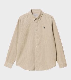 Carhartt WIP - L/S Madison Cord Shirt Wall/Black