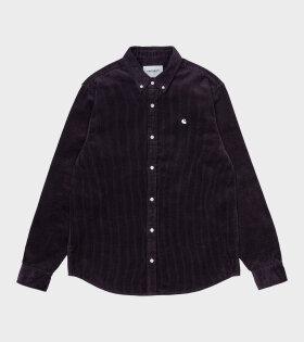 Carhartt WIP - L/S Madison Cord Shirt Dark Iris/Wax