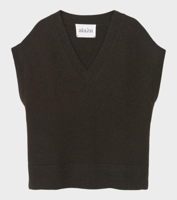 Aiayu - Foxglove Vest Dark Brown