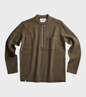 Carlos Merino Zip Knit Clay Brown