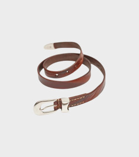 Our Legacy - 2 cm Belt Brown Leather