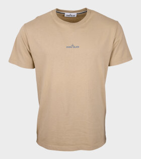 Stone Island - Logo Print T-shirt Beige