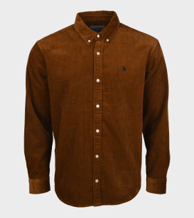 Carhartt WIP - L/S Madison Cord Shirt Tawny/Black