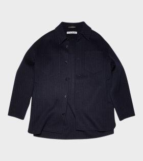 Double Face Shirt Jacket Navy/Grey