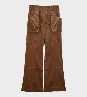 Corduroy Combat Trousers Dark Beige