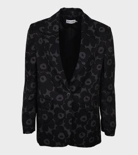 Lehdot Mini Unikko Coat Black/Grey