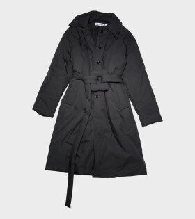 Belted Padded Coat Black