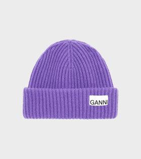 Rib Knit Beanie Persian Violet
