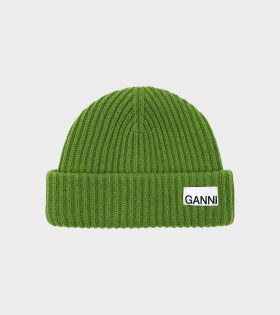 Rib Knit Beanie Flash Green