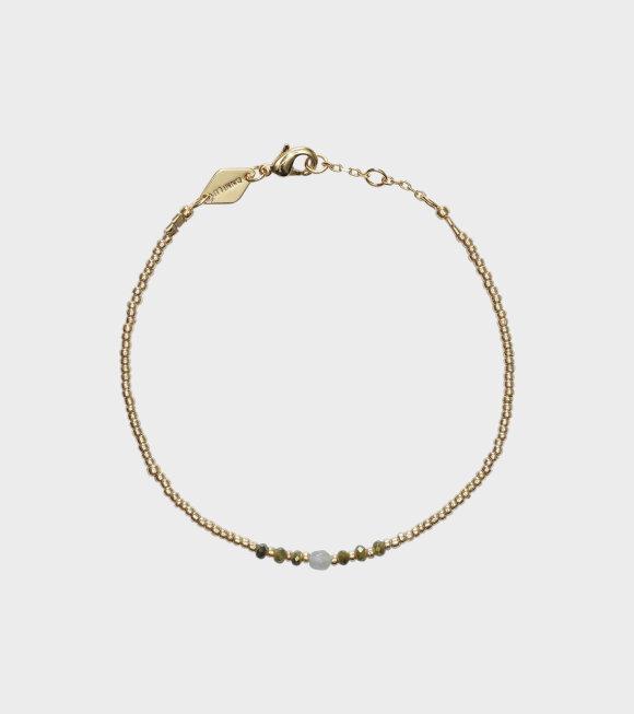 Anni Lu - Bead & Gem Bracelet Sea Green