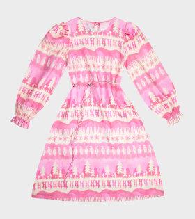 Kumo LS Dress Pink Landscape