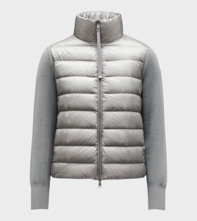 Moncler - Cardigan Stand Collar Grey
