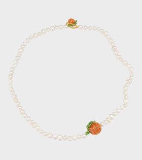 Pura Utz - Pearl Orange Neklace White/Orange