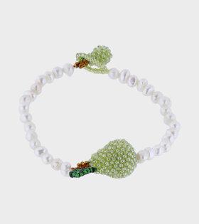 Pura Utz - Pearl Pear Bracelet White/Green