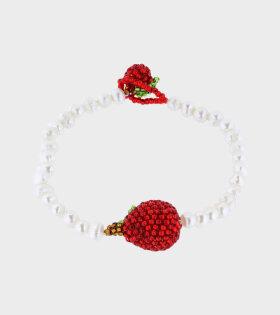 Pura Utz - Pearl Apple Bracelet White/Red