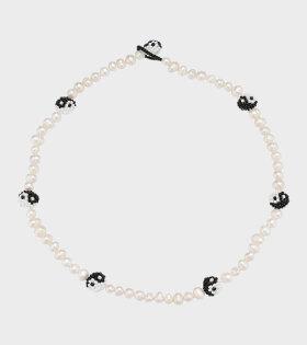 Pura Utz - Pearly Yin Yang Necklace Black/White