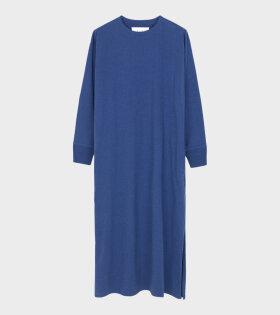 Aiayu - Long Sleeve Jersey Dress Indigo Melange