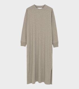 Aiayu - Long Sleeve Jersey Dress Hazel Melange