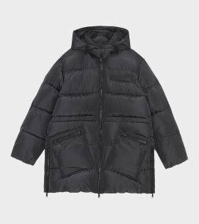 Midi Tech Puffer Jacket Phantom Black