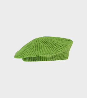 Ganni - Classic Baret Flash Green