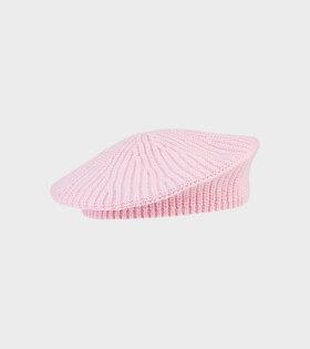 Ganni - Classic Baret Pink Nectar