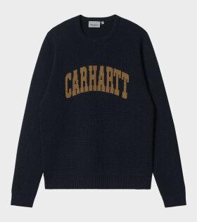 Carhartt WIP - University Script Sweater Dark Navy