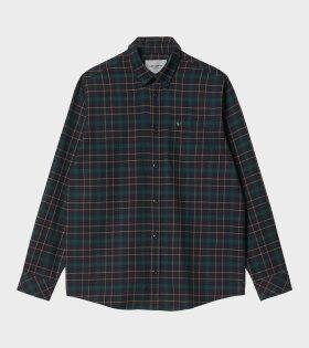 Carhartt WIP - L/S Baxter Shirt Dark Navy/Grove