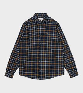 Carhartt WIP - L/S Baxter Shirt Astro/Tawny