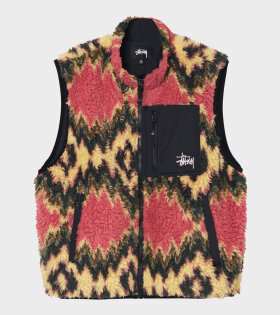 Stüssy - Fillmore Sherpa Vest Mustard
