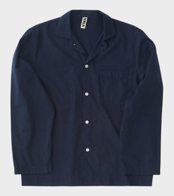 Tekla - Pyjamas Shirt True Navy