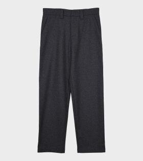 Felt High Trousers Charcoal Grey