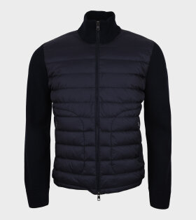Moncler - Cardigan Tricot Navy