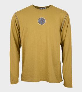 Stone Island - Compas LS T-shirt Yellow