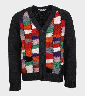 Chunky Wool Cardigan Multicolor