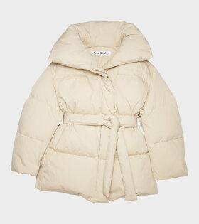 Acne Studios - Belted Puffer Jacket Beige