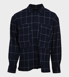 Crunch Check Shirt Navy