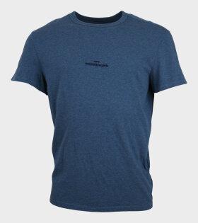 Logo T-shirt Petroleum Blue