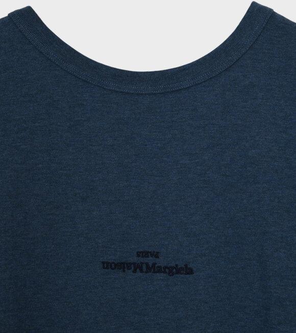 Maison Margiela - Logo T-shirt Petroleum Blue