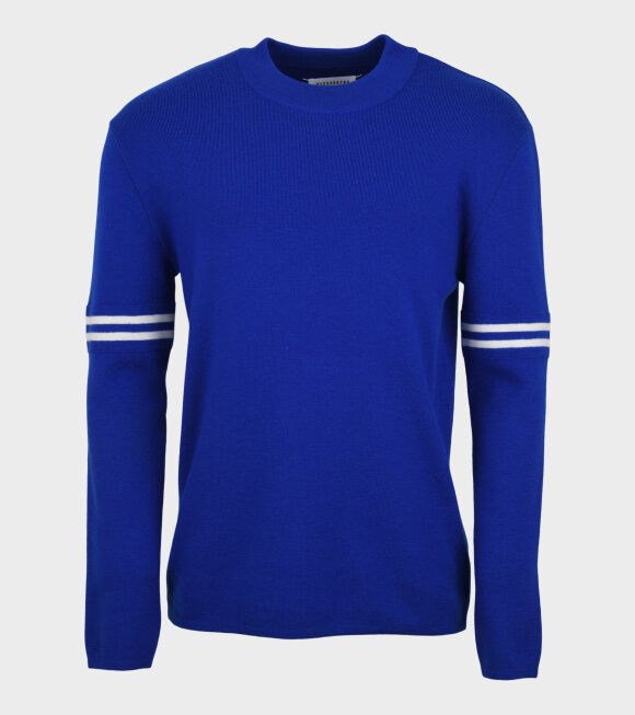 Maison Margiela - Striped Wool Knit Blue/White