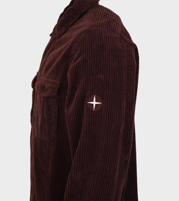 Stone Island - Cotton Corduroy Shirt Brown