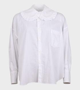 Oversized Collar Shirt White
