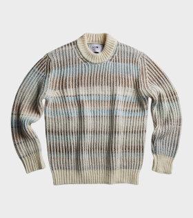 Jason Knit Off-White/Blue/Brown