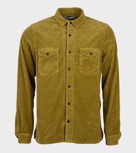 Cotton Corduroy Shirt Green