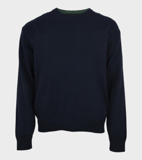 Cotton Knit Pullover Navy