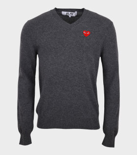 M Red Heart Knit Grey