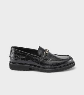 Le Club Loafer Black Croco
