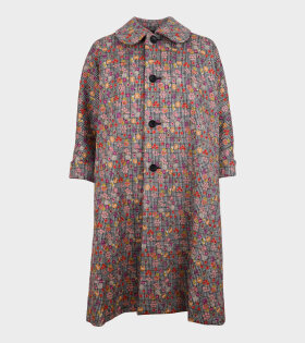 Embroidered Floral Coat Multicolor