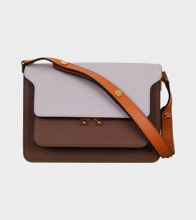 Medium Trunk Bag Grey/Brown/Orange
