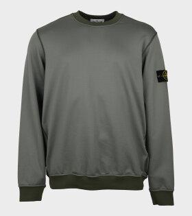 Nylon Patch Sweatshirt Green