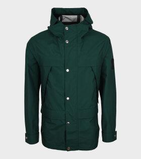 Short Parka Coat Green